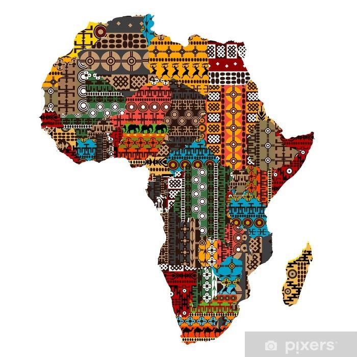 Karte Afrika.Fototapete Karte Afrika Mit Ländern Der Ethnischen Texturen Gemacht