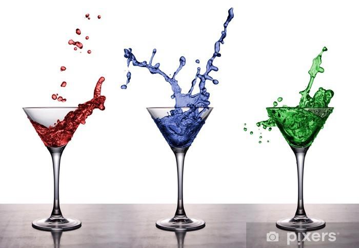 Papier peint vinyle Rouge Vert Bleu - Addiction