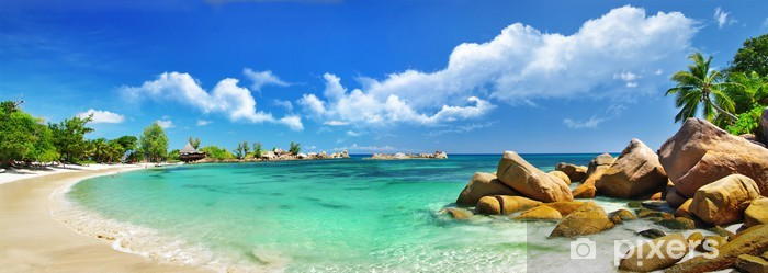 Vinilo Pixerstick Seychelles, panorama de la playa - Temas