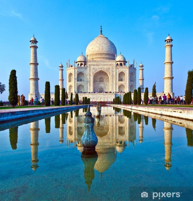Mural de Parede em Vinil Taj Mahal in India - Temas