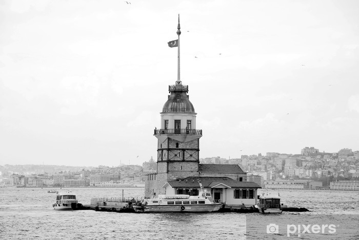 maiden tower's in istanbul Pixerstick Sticker - The Middle East