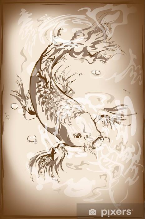 Vinilo Pixerstick Peces koi japonés • Pixers® - Vivimos para cambiar