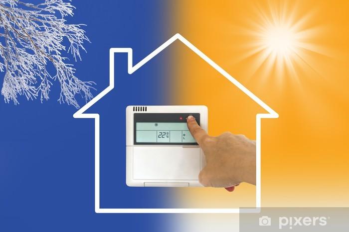 Papier peint vinyle Concept maison chauffage, climatisation - Industrie lourde