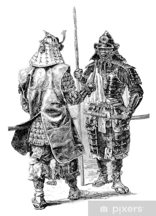 Naklejka Pixerstick Samurai Japan - Azja