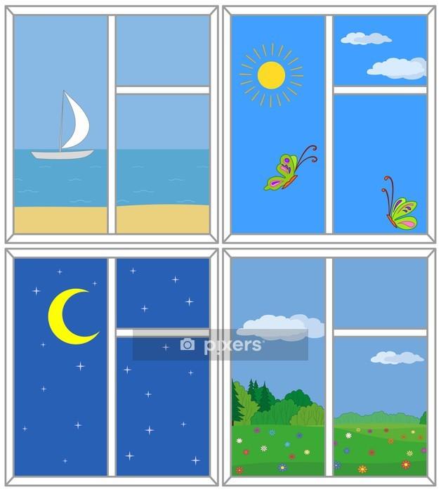 Wandtattoo Fenster Mit Aussicht Pixers Wir Leben Um Zu Verandern
