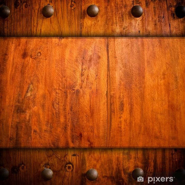 Papier peint vinyle Fond de bois Vintage - Industrie lourde