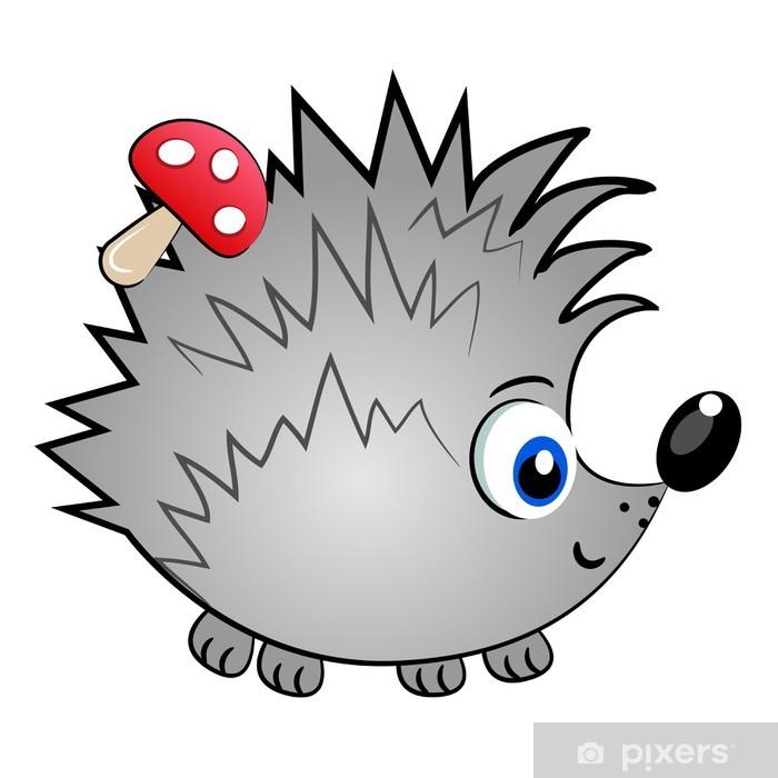 Sticker Pixerstick Hérisson isolé character.cute vecteur animal illustration - Mammifères