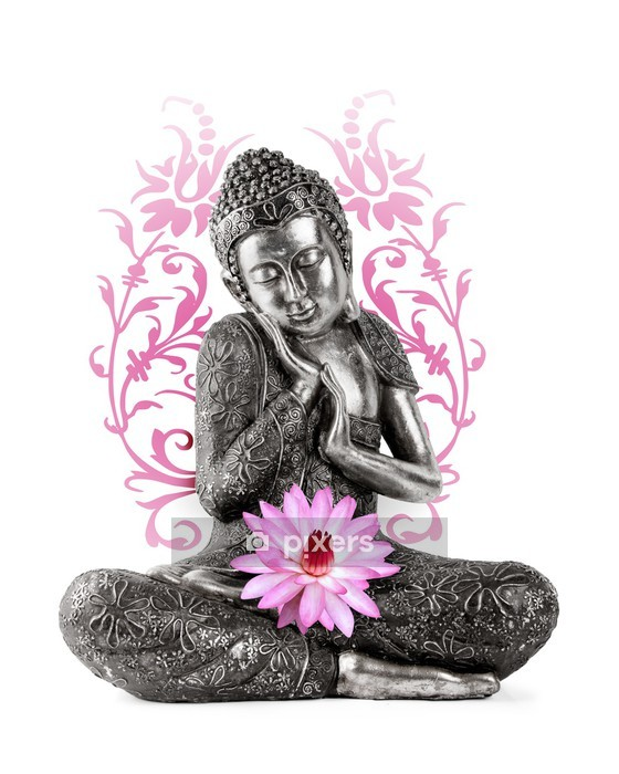 Muursticker Statue de bouddha - Muursticker