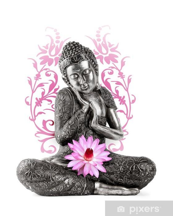 Zelfklevend Fotobehang Statue de bouddha - Muursticker