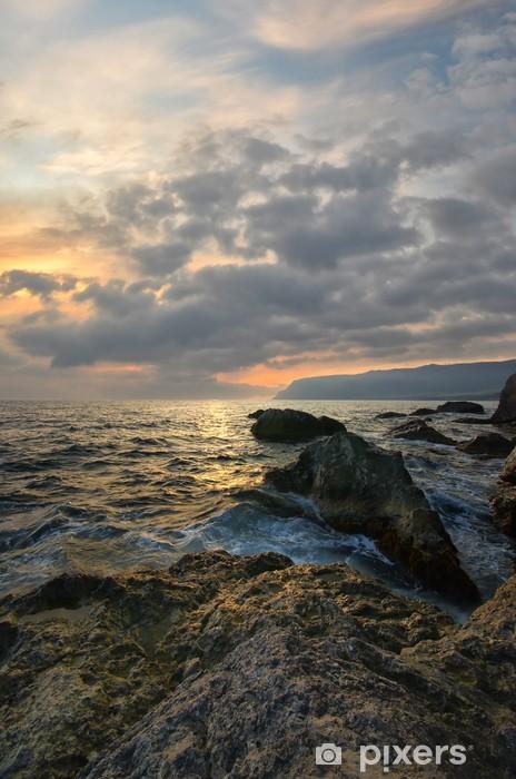 Rocks and sea Pixerstick Sticker - Seasons