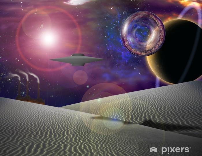 Papier peint vinyle Future Science Fiction - Espace