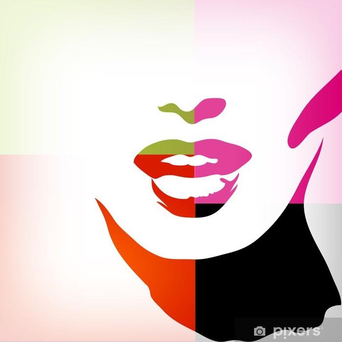 Papier Peint Autocollant Image de femme, mode concept de fond - Thèmes