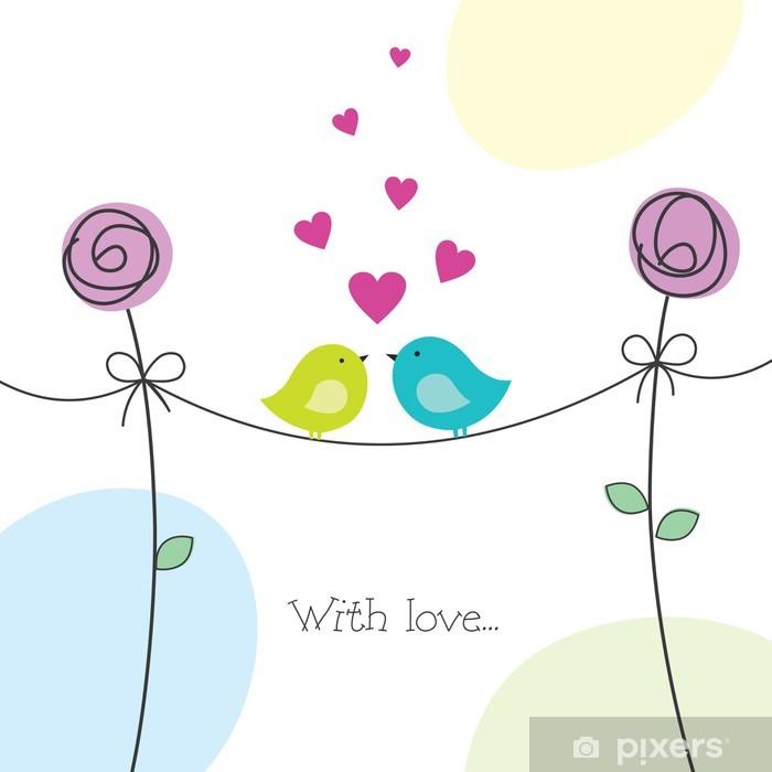 Valentine's Day card Pixerstick Sticker - International Celebrations