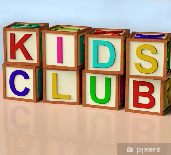 Plakat Bloki Pisownia klub dla dzieci jako symbol Fun Childrens - Wartości rodzinne