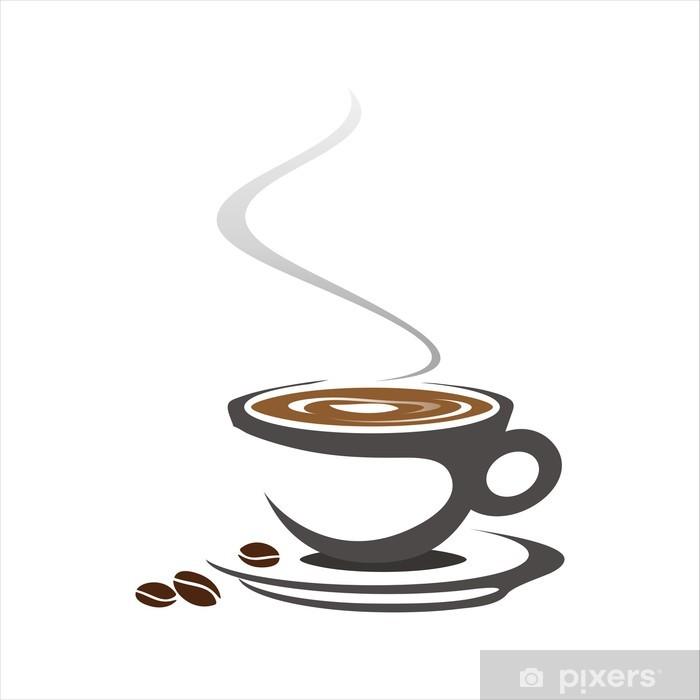 Hot Coffee , Cafeteria , Business Logo Design Sticker