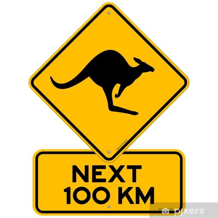 Pixerstick Sticker Teken van de kangoeroe - Vakantie