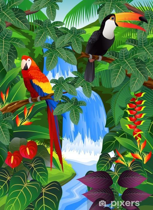 Çıkartması Pixerstick Beauiful tropikal arka plan -