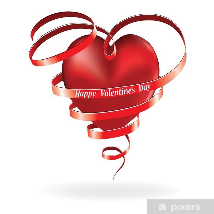 Sticker Pixerstick Valentine heart - Fêtes internationales