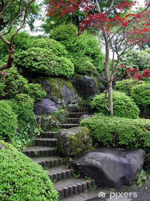 Vinyl-Fototapete Japanischen Garten in Tokio -