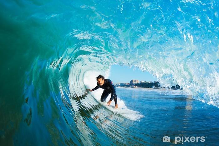 Fototapeta winylowa Surfer na fali Błękitny ocean - Tematy
