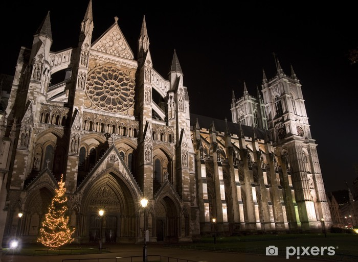Weihnachtsbaum England.Fototapete Weihnachtsbaum Vor Der Westminster Abbey In London England