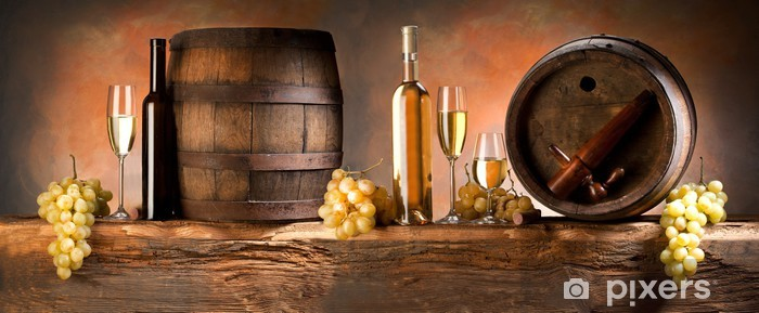 still life with white wine Self-Adhesive Wall Mural - Themes