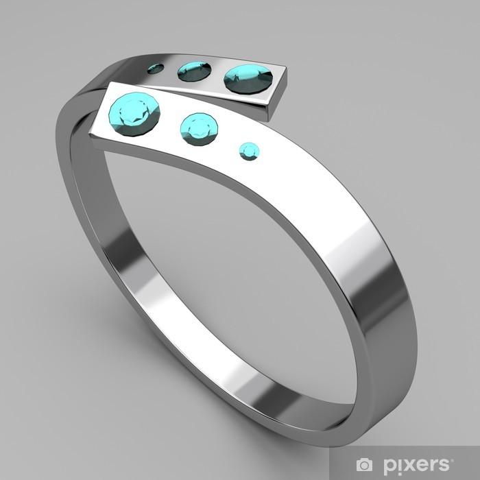 turkos silver ring