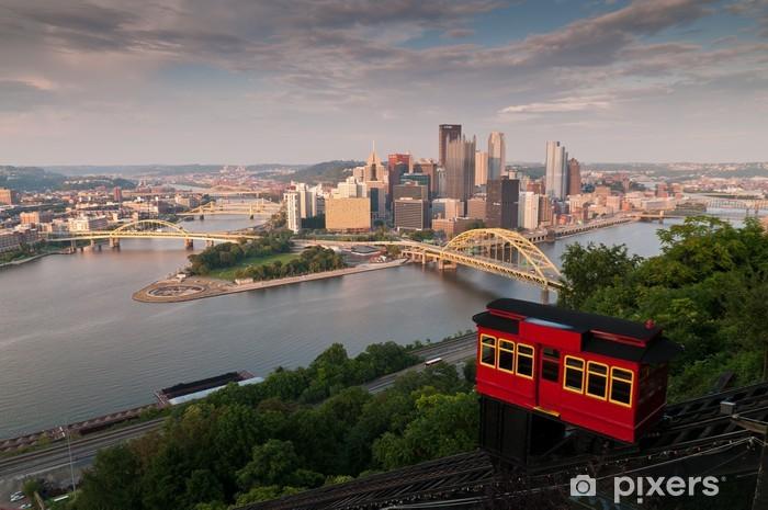 Papier peint vinyle Pittsburgh horizon - Amérique