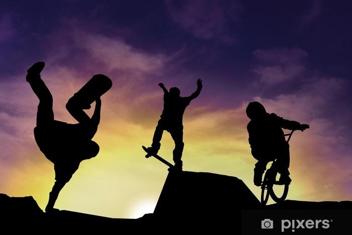 Sports urbains Pixerstick Sticker - Cycling