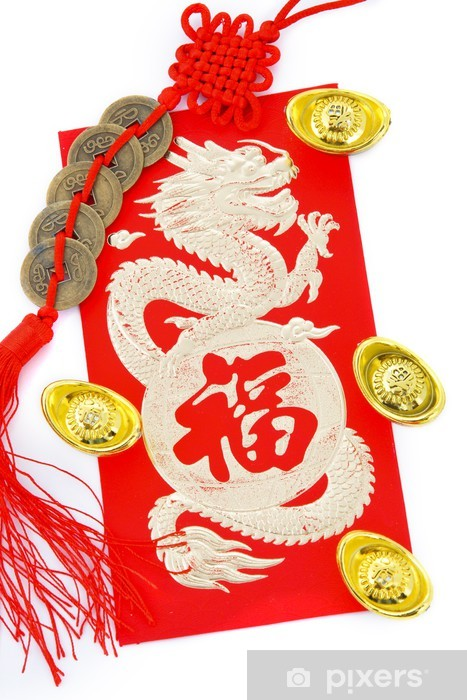 Papier peint vinyle Décoration Nouvel An chinois - Fêtes internationales