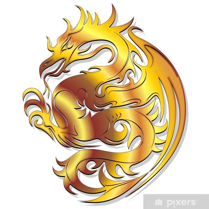 gold dragon insignia