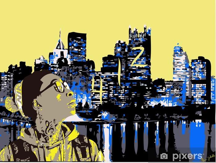 Papier peint vinyle Wiz Khalifa à Pittsburgh 412 - iStaging