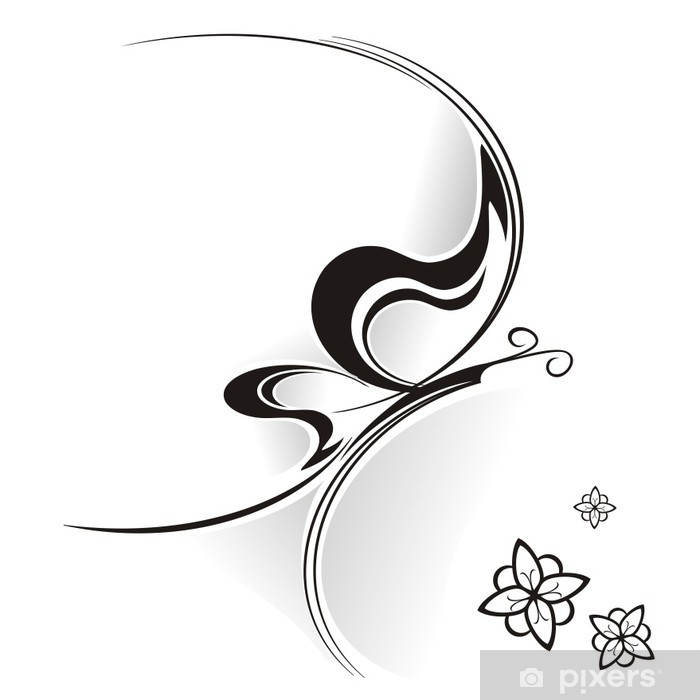 Naklejka Pixerstick Farfalla Tribale - Tła