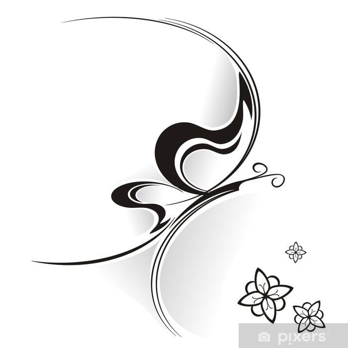 Sticker Pixerstick Farfalla Tribale - Arrière plans