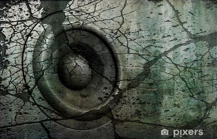 Fototapeta winylowa Niebieski HD 3d grunge stary głośnik nagłośnienie deejay DJ - Hip Hop