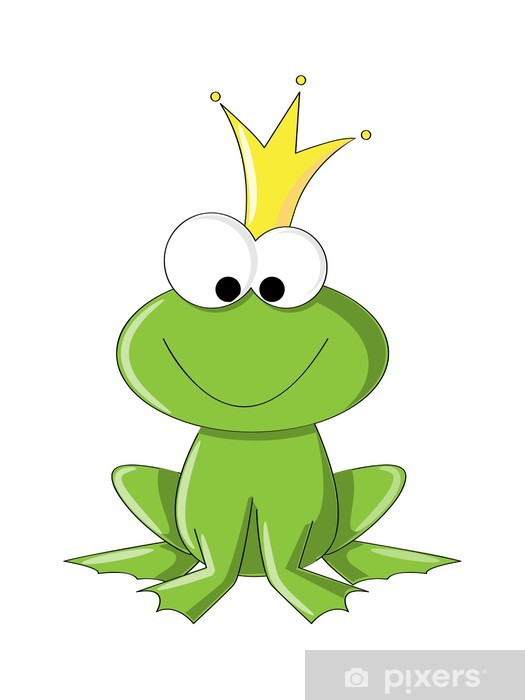 Kurbağa Prens Ya Da Prenses çıkartması Pixerstick Pixers Haydi