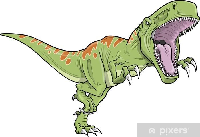 Naklejka Pixerstick Ilustracja wektora dinozaurów Tyrannosaurus - Inne Inne