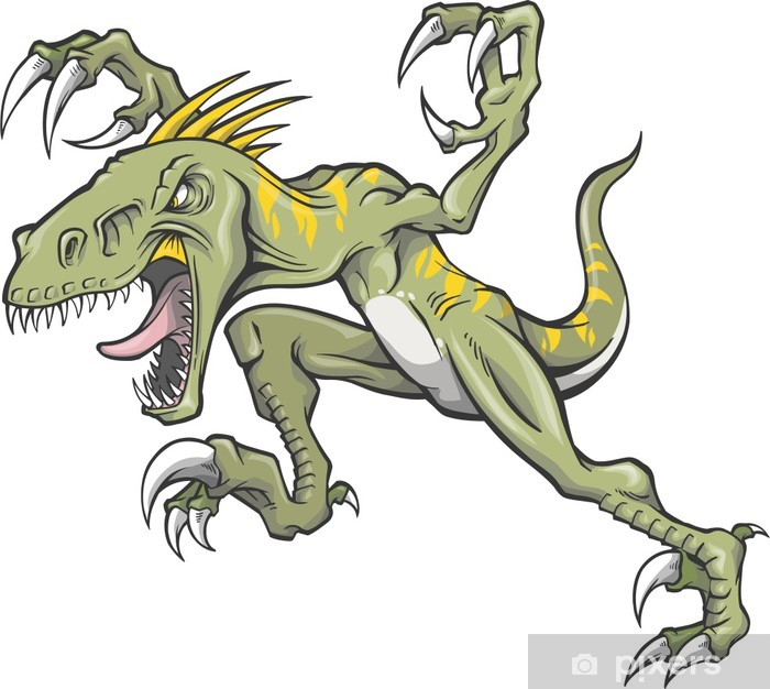 Papier peint vinyle Raptor Dinosaur Vector Illustration - Autres Autres
