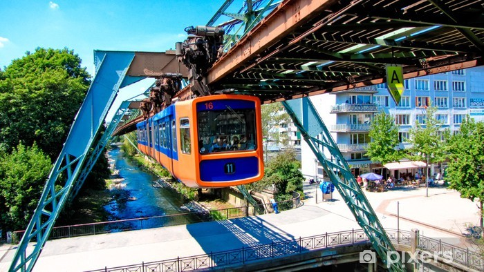 Nálepka Pixerstick Wuppertal visutá lanovka Oberbarmen - Evropa