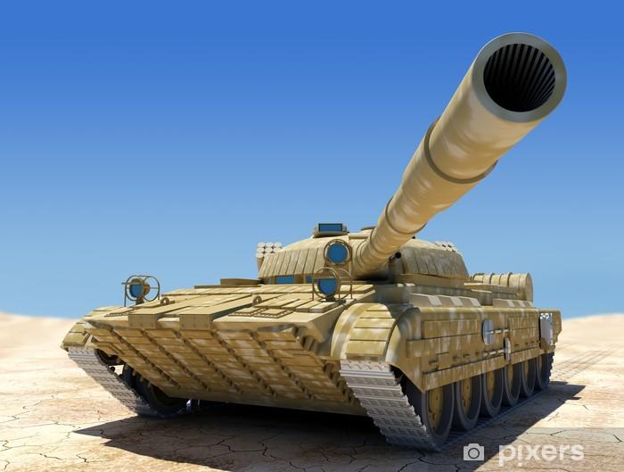 Army tank. Pixerstick Sticker - Themes