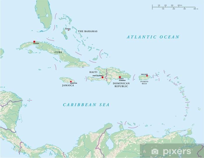 Karibische Inseln Landkarte Wall Mural Pixers We Live To Change