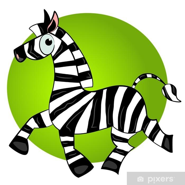 Poster Karikatur Zebra vector character.striped niedlichen Tier - Säugetiere