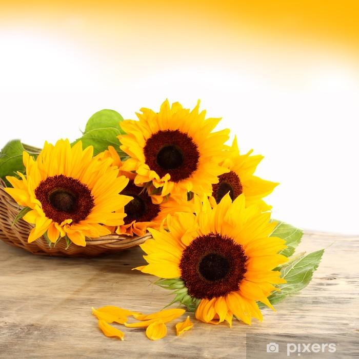 sun and flowers Pixerstick Sticker - Themes