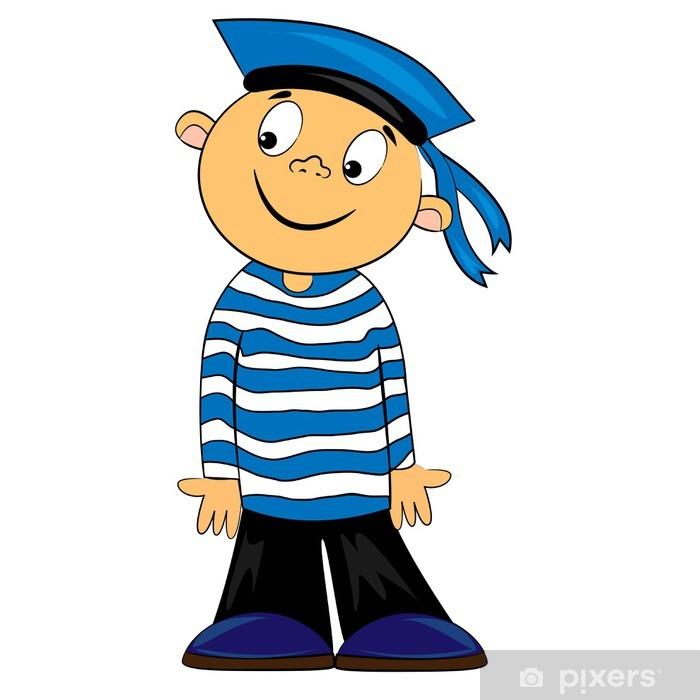 Plakát Kreslený film námořník dítě v pruhovaných shirt.vector charakteru •  Pixers® • Žijeme pro změnu