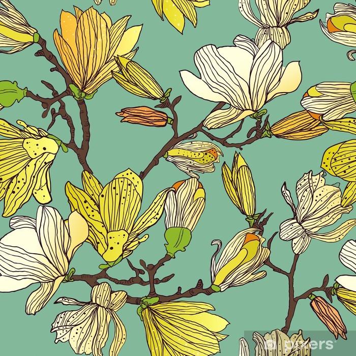 Seamless floral texture Pixerstick Sticker - Styles