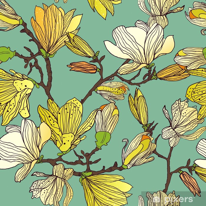 Vinilo Pixerstick Textura floral sin fisuras - Estilos