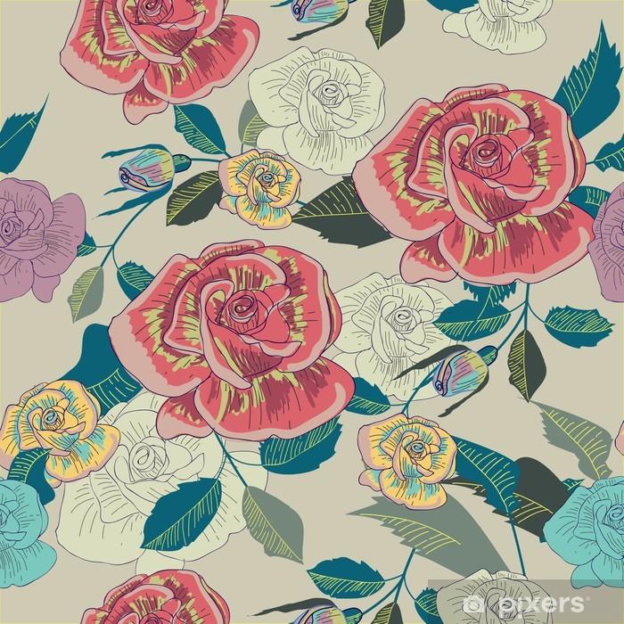Naklejka Pixerstick Powtarzalne kwiatowy tekstury - Tematy