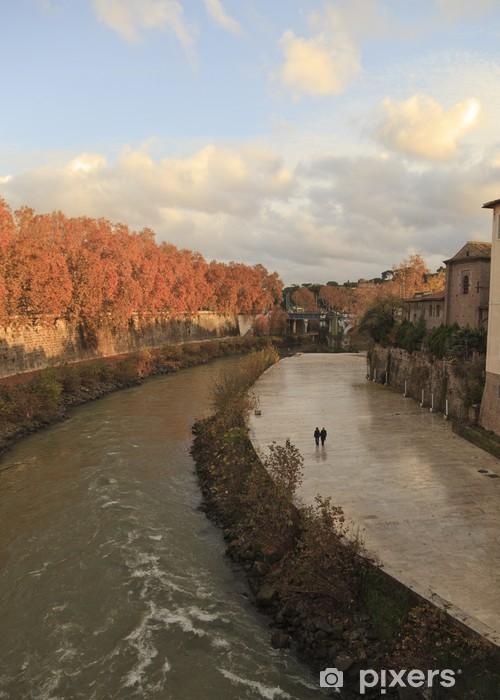 Naklejka Pixerstick Widok z Ponte Fabricio, Rzym, Włochy - Cuda natury