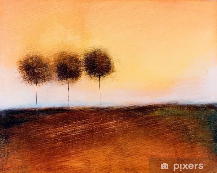 Fotomural Estándar Se trata de una pintura abstracta de 3 árboles - Estilos