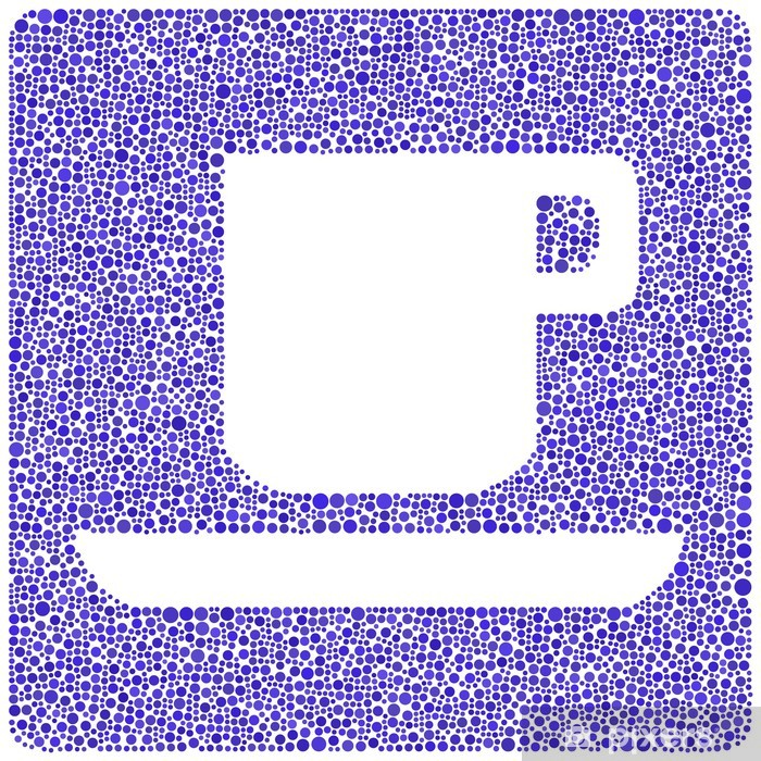 Vinyl-Fototapete Eine Tasse Kaffee in einem Mosaik von Kreisen - Heißgetränke